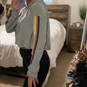 wild fable Tops - Color stripe crop hoodie